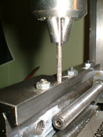 construction of compound slide lock on a mini-lathe - tapping