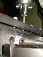 construction of compound slide lock on a mini-lathe