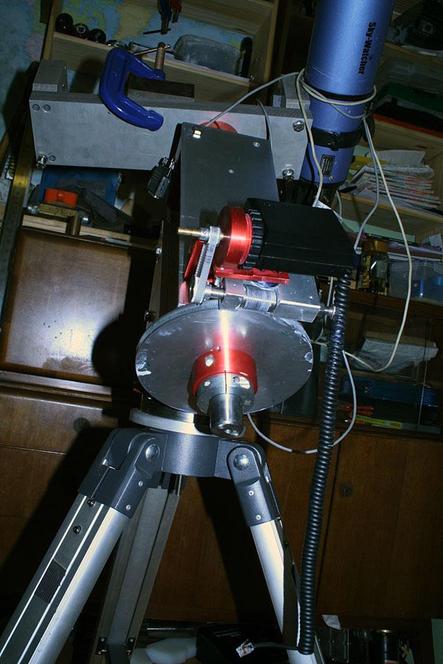 My homemade DIY german equatorial telescope mount