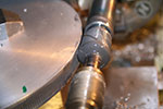 worm hob in action on the mini-lathe