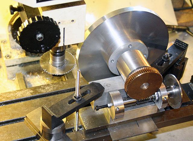 Telescope Worm Wheels And Gears Gashing The Worm Wheel Blank